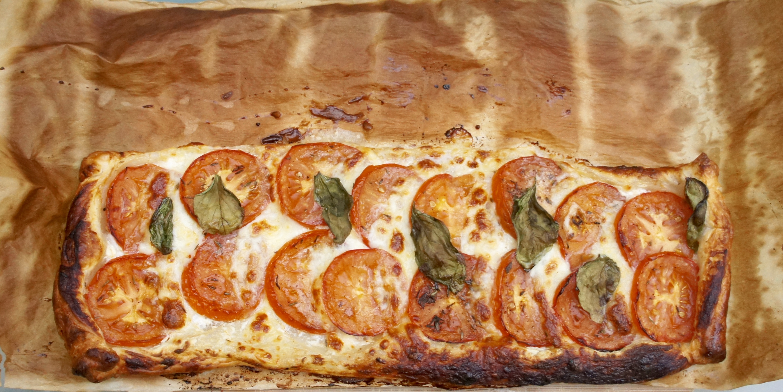 Tomato, Basil & Mozzarella Tart